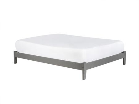 Concord Collection AR8031039 Full Size Traditional Bed with Symmetrical Design  Open Footrail and Eco-Friendly Solid Hardwood Construction in