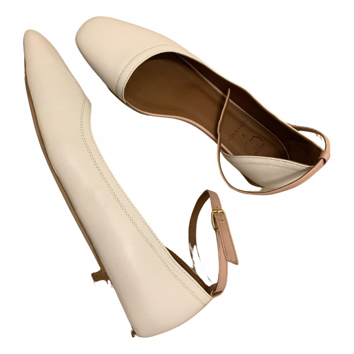 Roksanda N White Leather Ballet flats for Women 38 EU