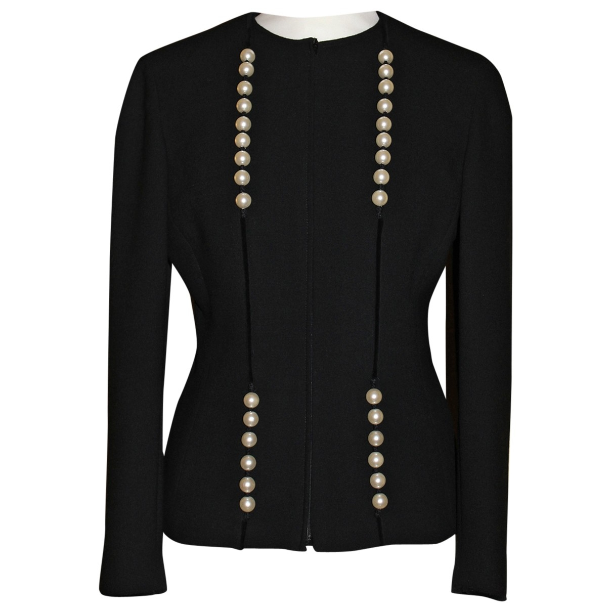 Valentino Garavani \N Black Wool jacket for Women 38 IT