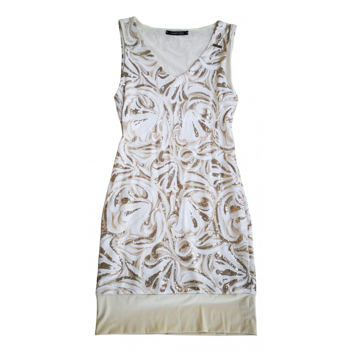 Non Signe / Unsigned \N Kleid in  Metallic Mit Pailletten