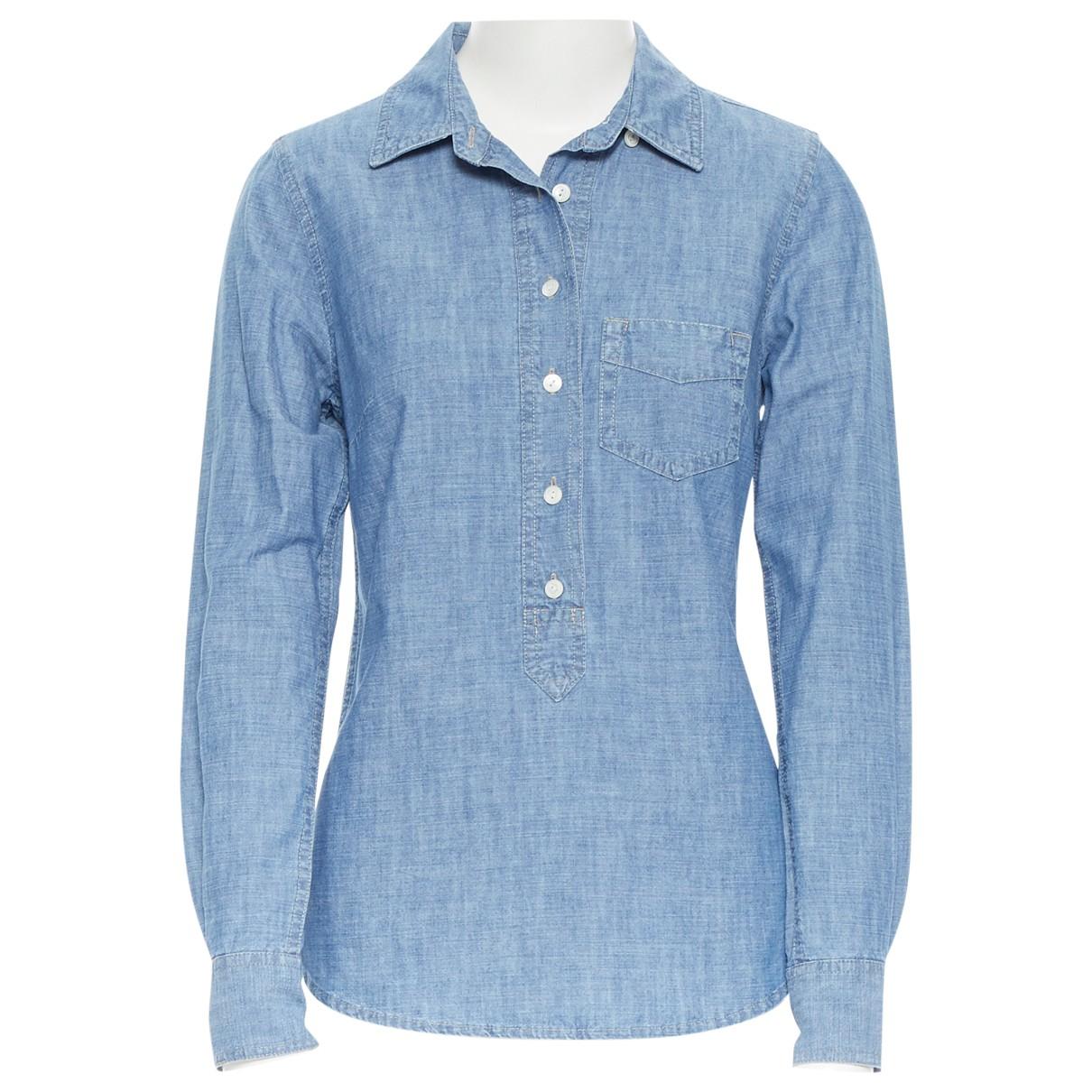 J.crew - Top   pour femme en coton - bleu