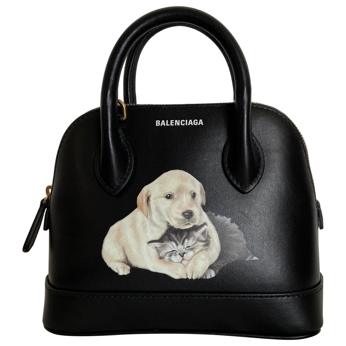 Balenciaga Ville Top Handle Black Leather handbag for Women \N