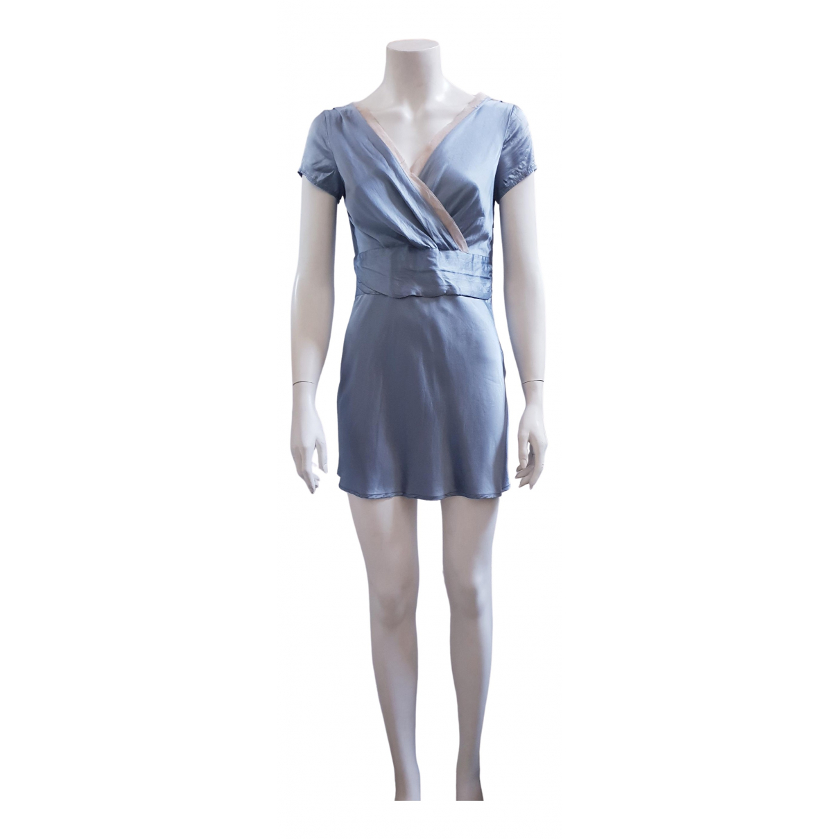 Schumacher - Robe   pour femme en soie - bleu