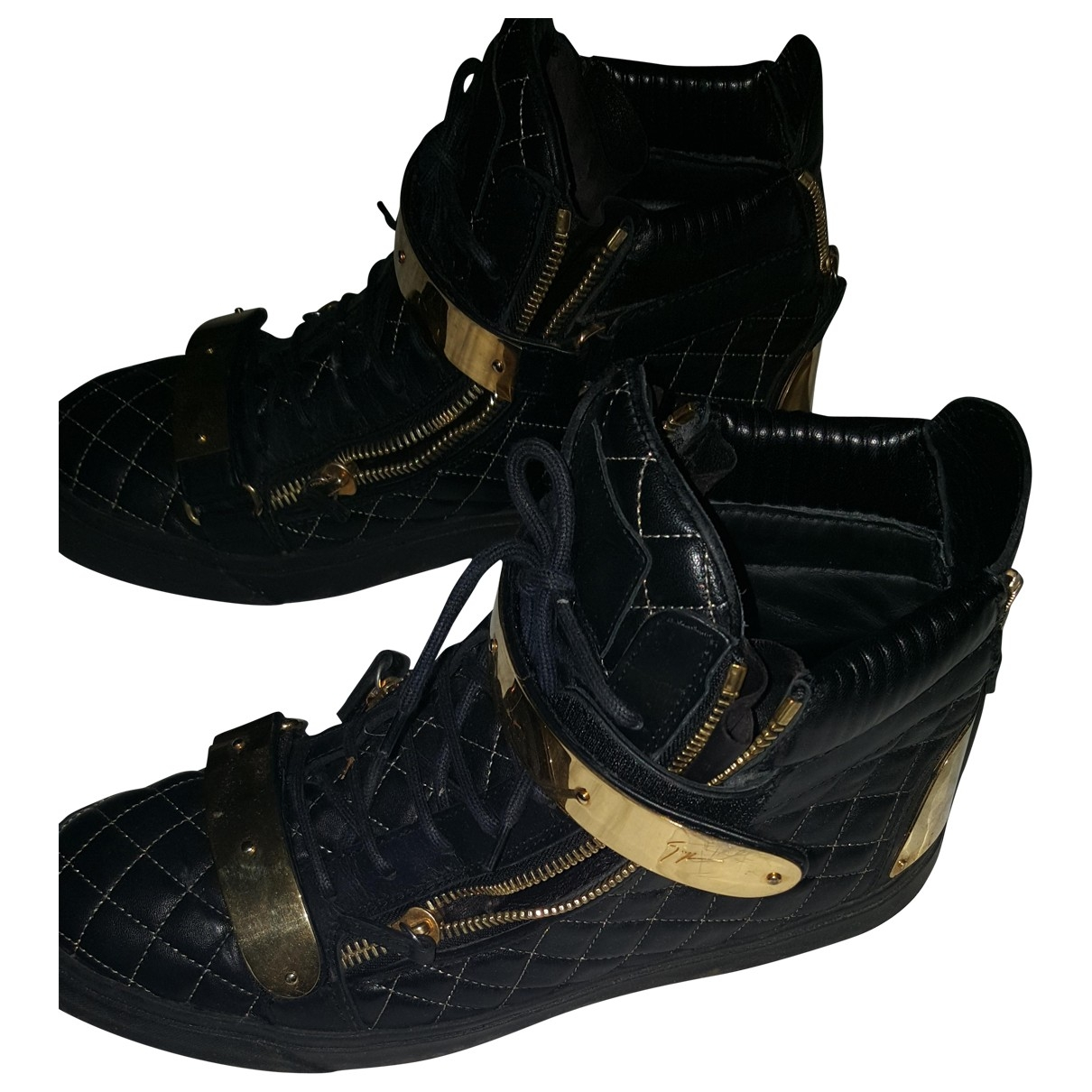 Giuseppe Zanotti \N Black Patent leather Trainers for Men 45 EU