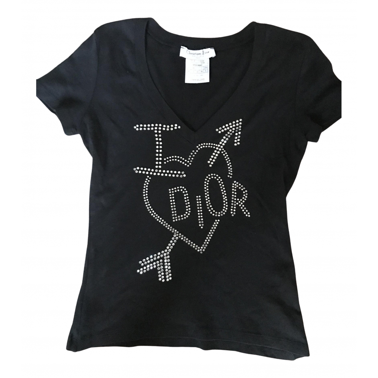 Dior \N Black Cotton  top for Women 40 FR