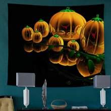 Halloween Pattern Print Tapestry