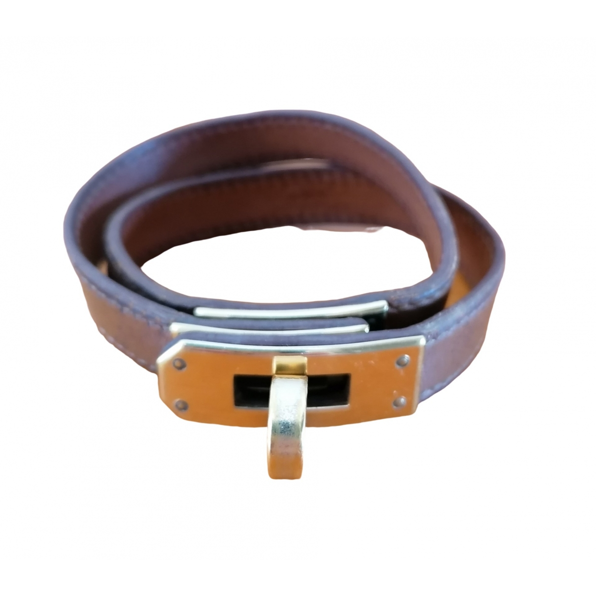 Hermès Kelly Double Tour Brown Leather bracelet for Women \N
