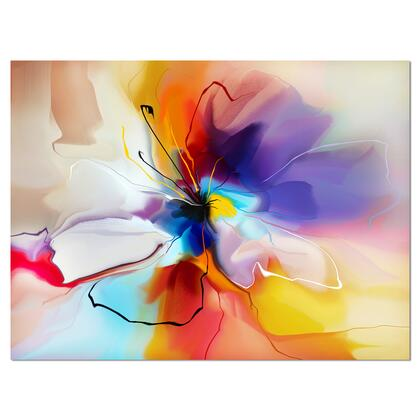 PT7332-40-30 Creative Flower In Multiple Colors - Floral Canvas Art -