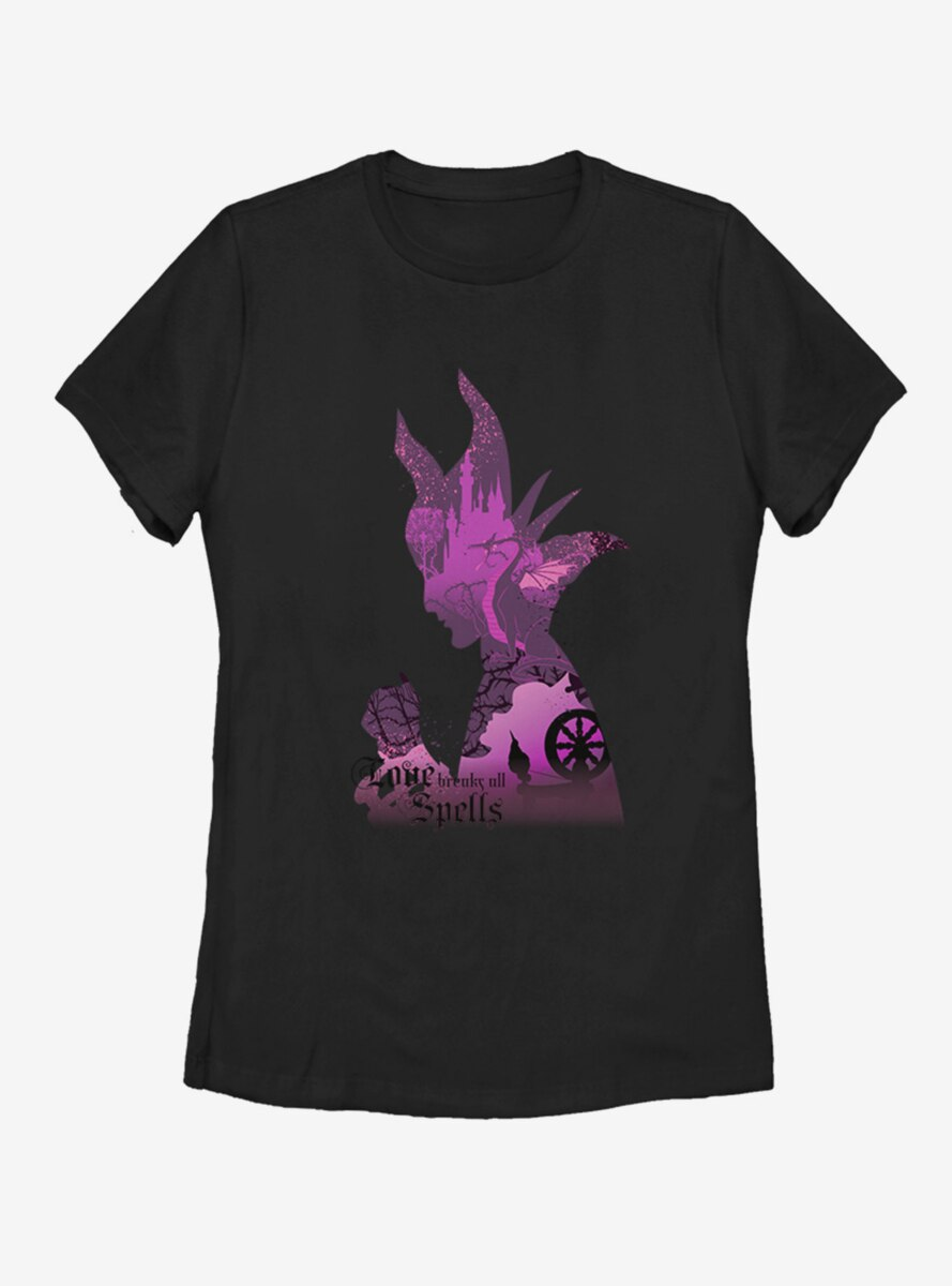 Disney Sleeping Beauty Maleficent Shadow Womens T-Shirt