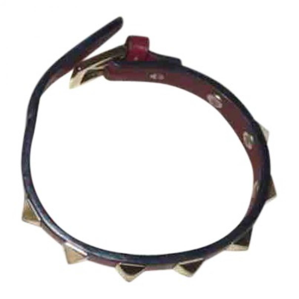 Valentino Garavani \N Red Leather bracelet for Women \N