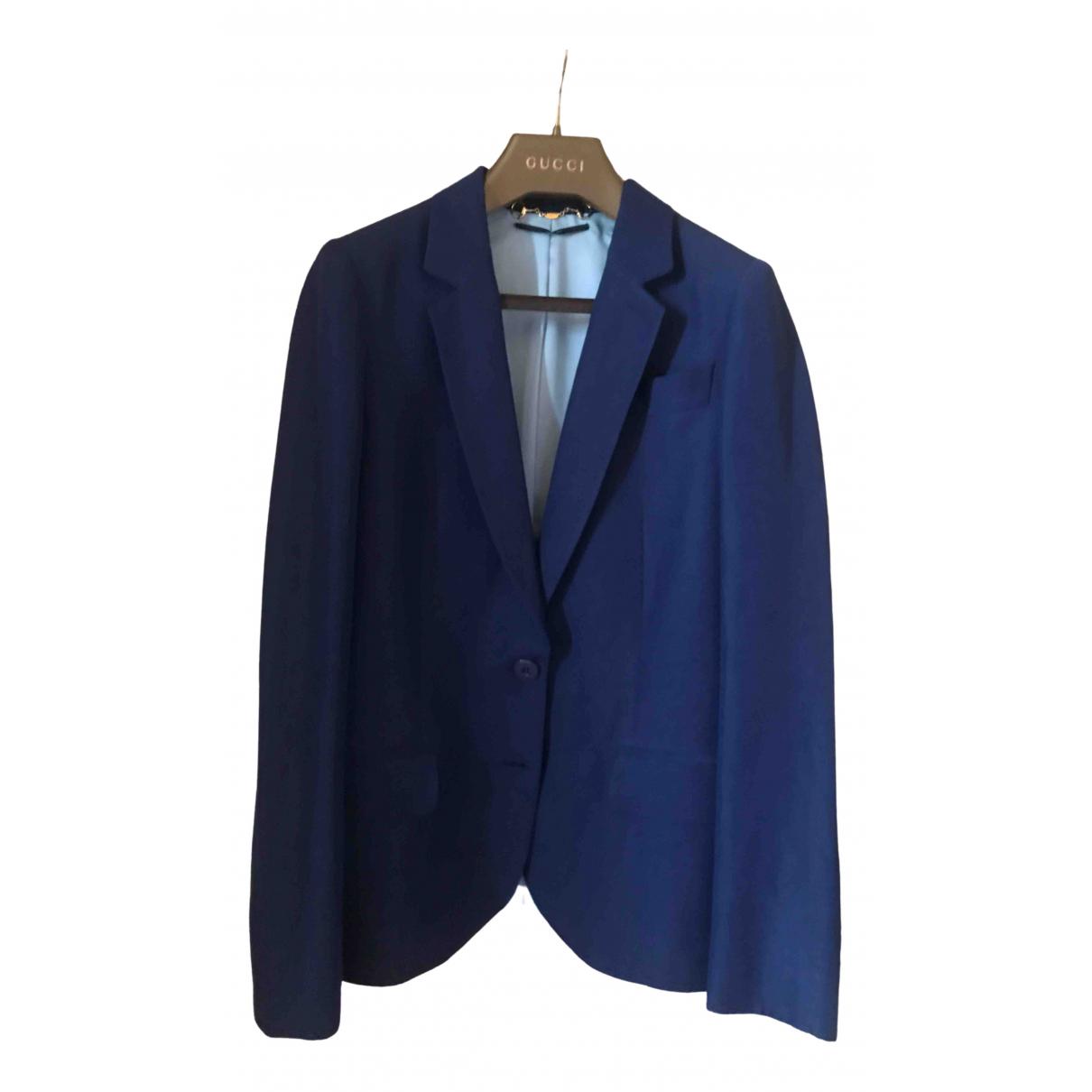 Gucci \N Blue Linen jacket for Women 38 IT
