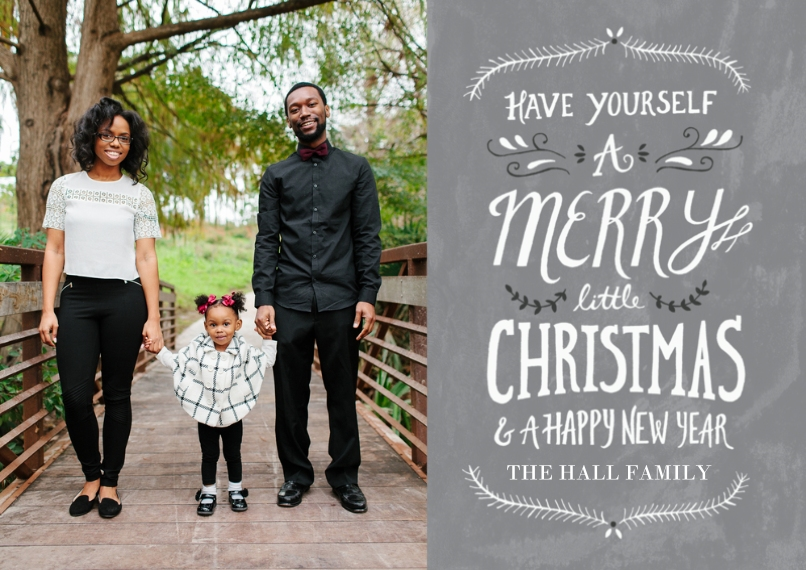 Christmas Photo Cards 5x7 Cards, Premium Cardstock 120lb with Rounded Corners, Card & Stationery -Merry Little Christmas