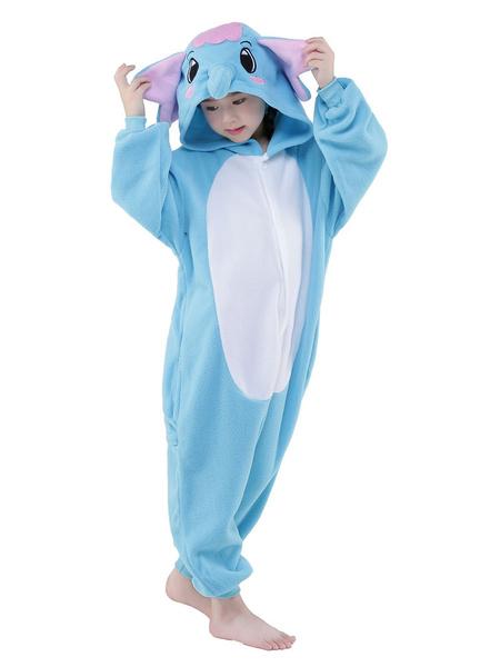 Milanoo Disfraz Halloween Elefante azul sintetico mono mascota traje  Halloween