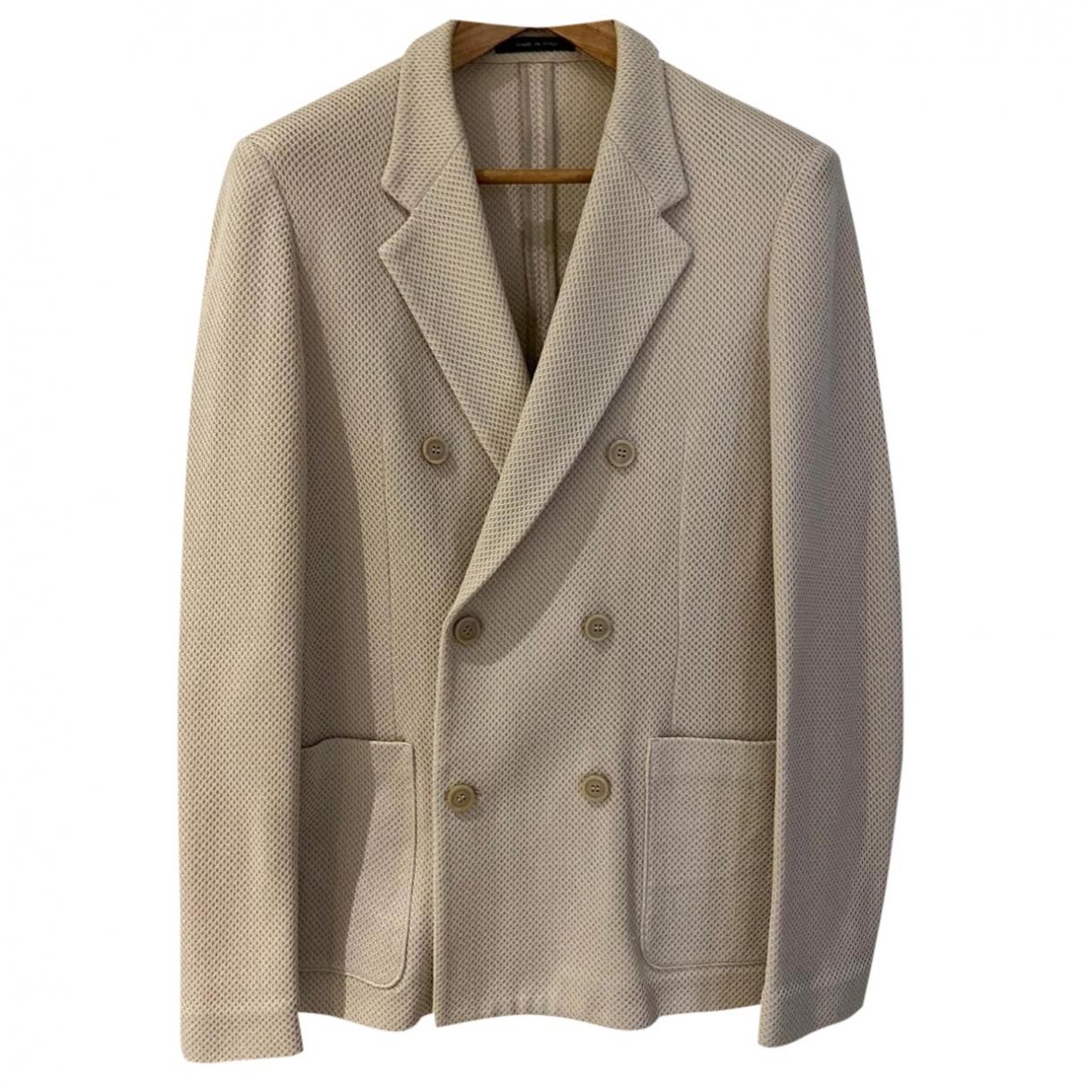 Emporio Armani \N Beige Cotton jacket  for Men 50 IT