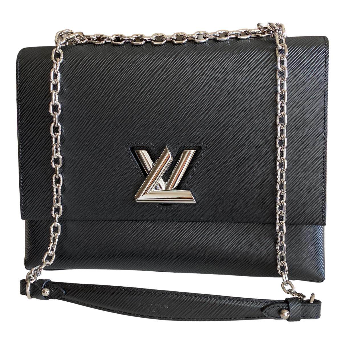 Louis Vuitton - Sac a main Twist pour femme en cuir - noir