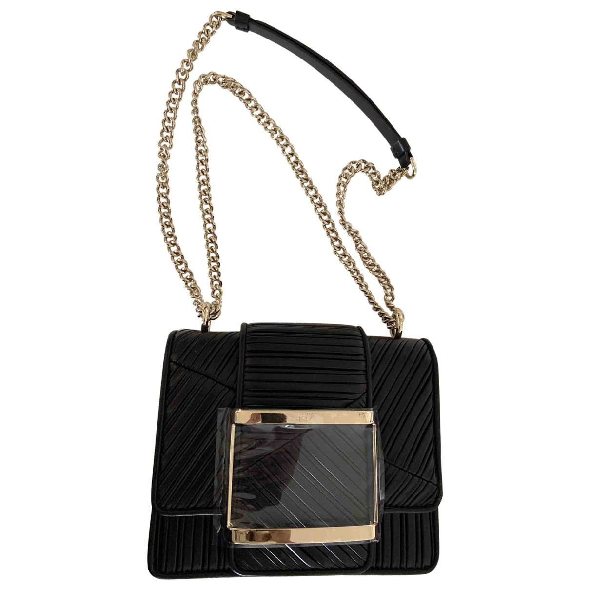 Roger Vivier \N Black Leather handbag for Women \N