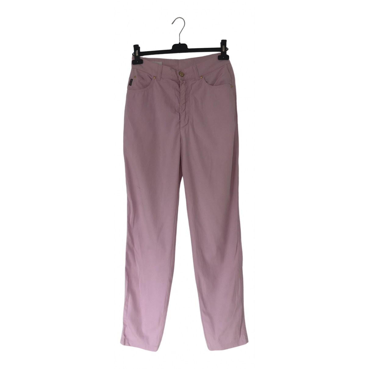 Escada \N Pink Cotton Trousers for Women 38 FR