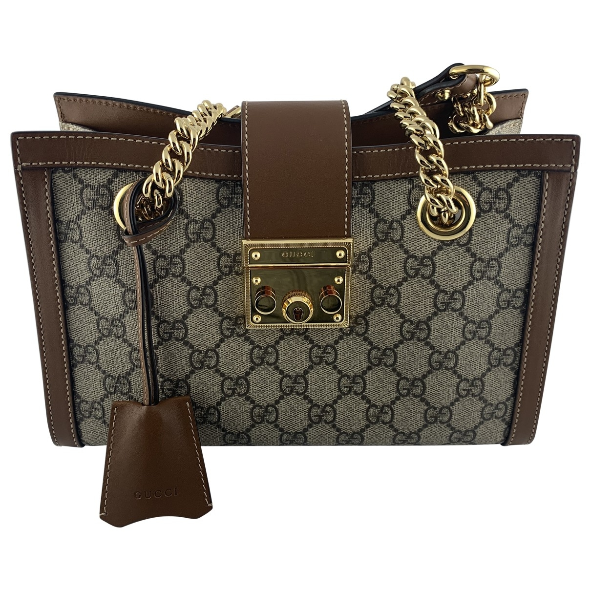 Gucci Padlock Beige Cloth handbag for Women \N