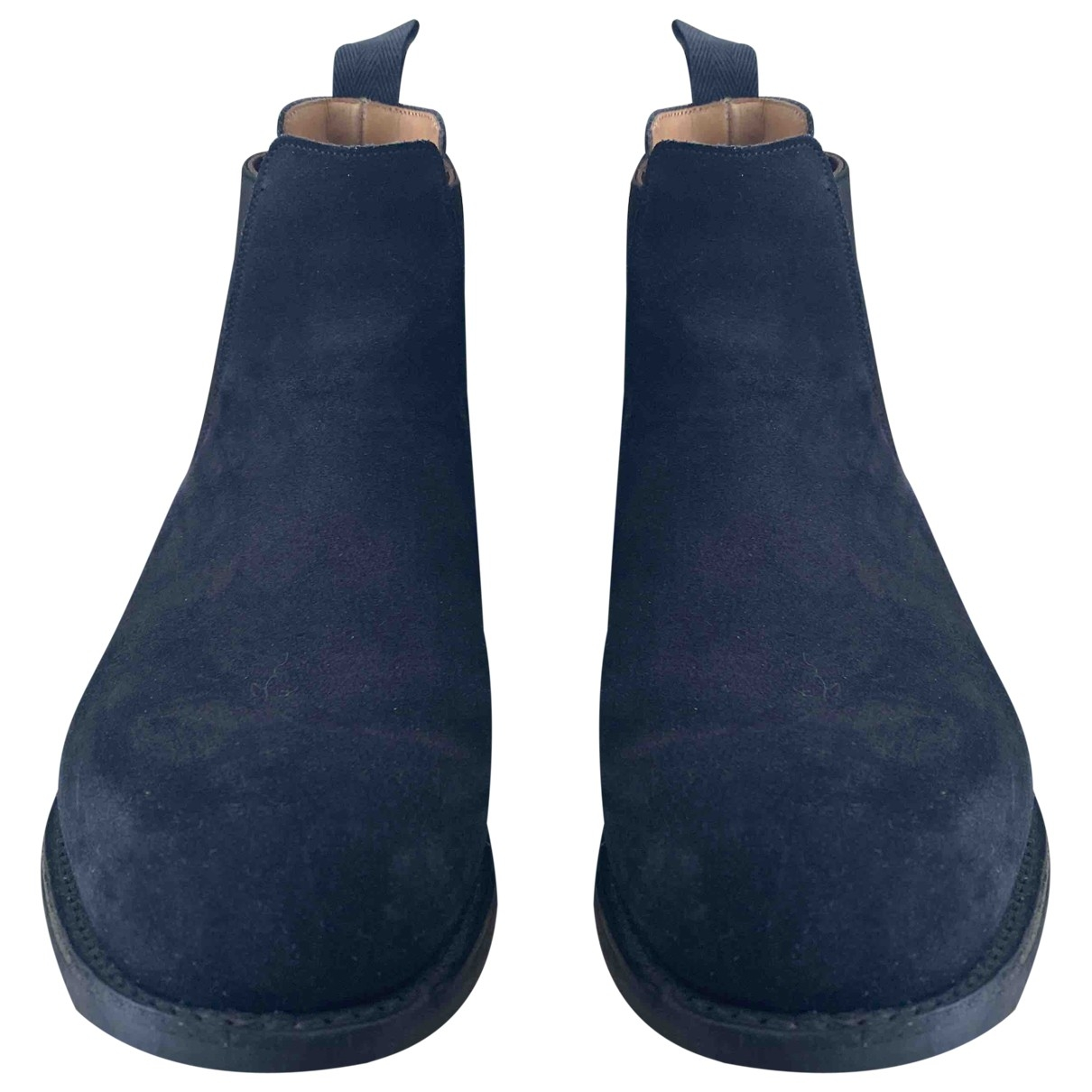 Church's \N Navy Suede Boots for Men 10 UK