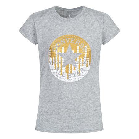 Converse Graphic T-Shirt - Girls 7-16, X-large , Gray