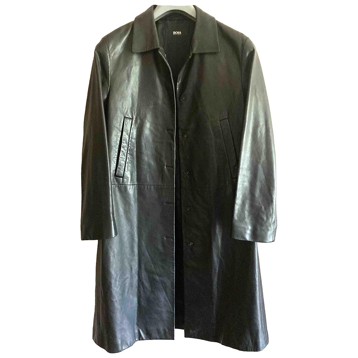 Boss N Black Leather coat for Women 44 IT