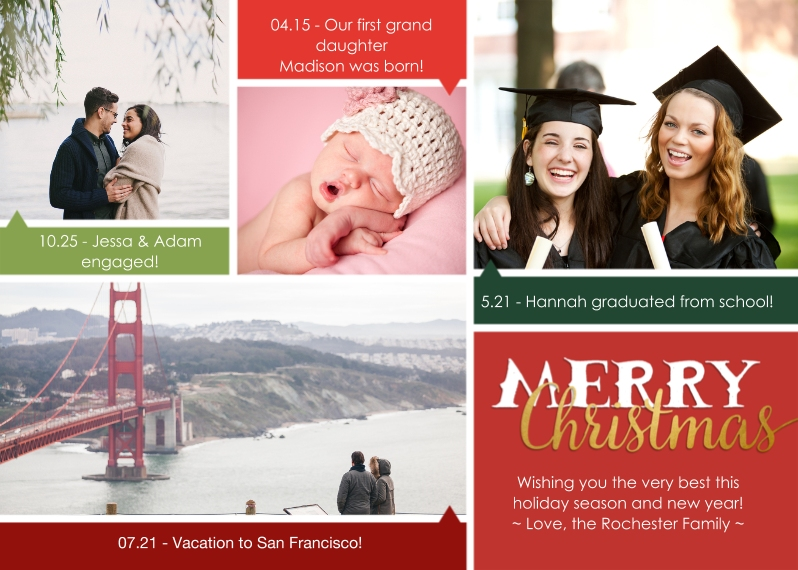 Christmas Photo Cards 5x7 Cards, Premium Cardstock 120lb, Card & Stationery -A Multitude of Christmas Blessings