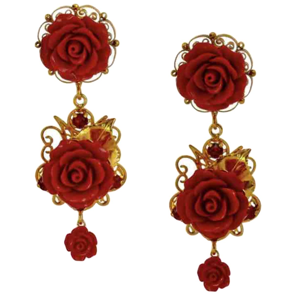 Dolce & Gabbana - Boucles doreilles   pour femme en metal - rouge