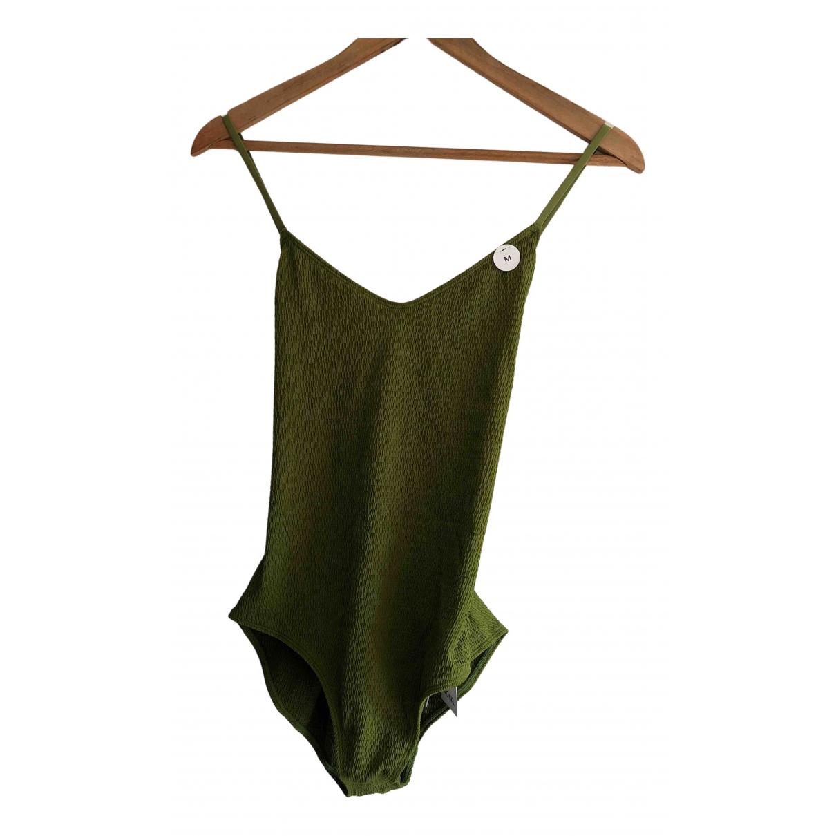 Monki \N Badeanzug in  Khaki Polyester