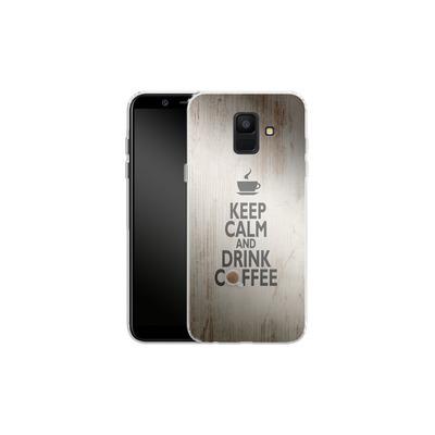 Samsung Galaxy A6 Silikon Handyhuelle - Drink Coffee von caseable Designs