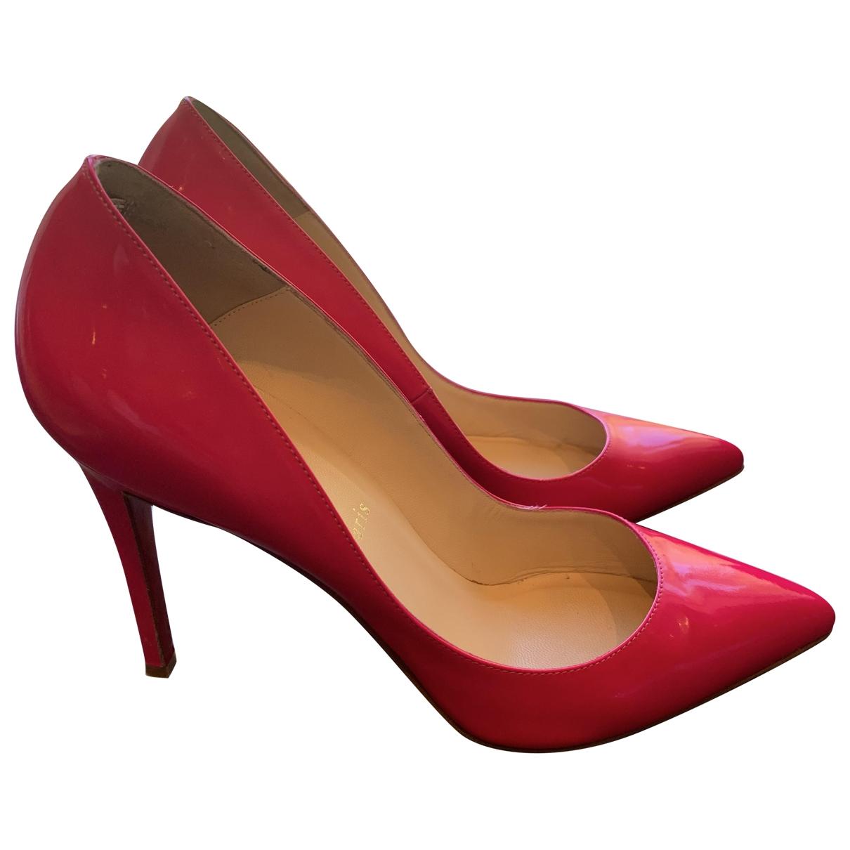Christian Louboutin - Escarpins Pigalle pour femme en cuir verni - rose