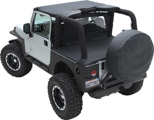Tonneau Cover For OEM Soft Top W/Channel Mount 07-18 Wrangler JK 2DR Black Diamond Smittybilt