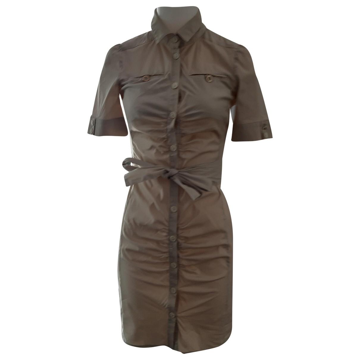 Patrizia Pepe \N Kleid in  Beige Baumwolle - Elasthan