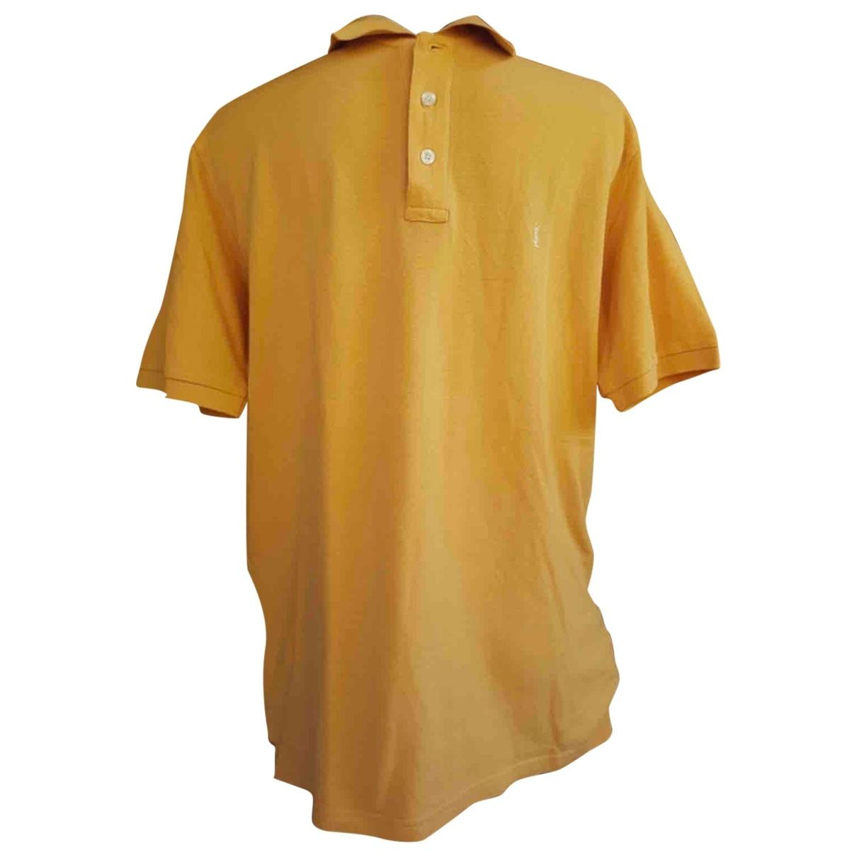 Yves Saint Laurent \N Orange Cotton Polo shirts for Men M International