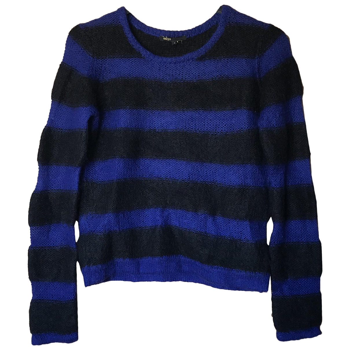 Maje \N Pullover in  Blau Wolle
