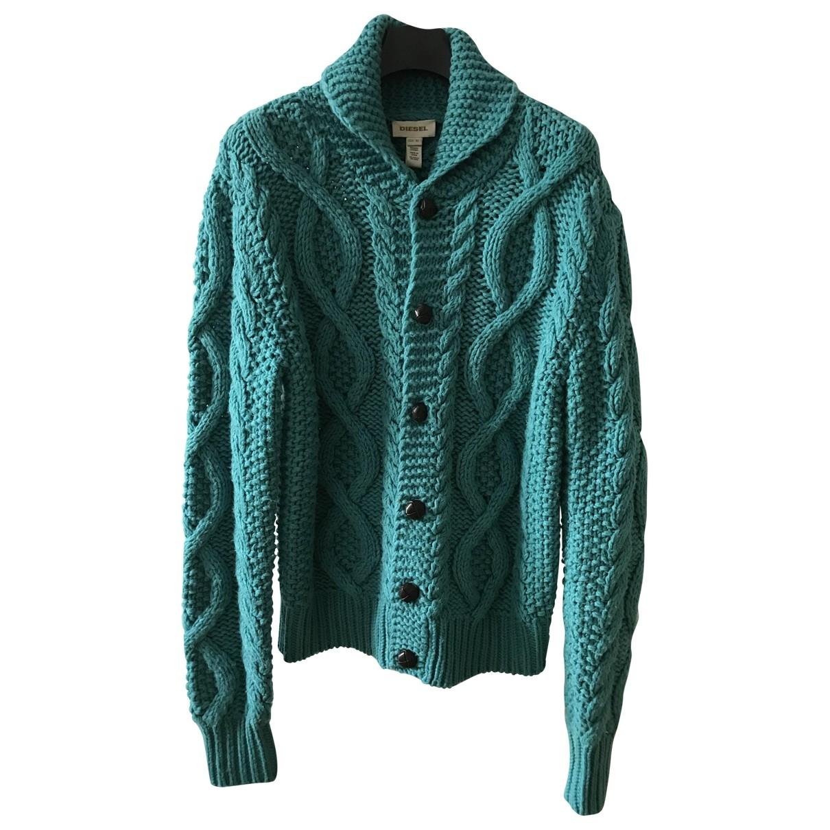 Diesel - Pulls.Gilets.Sweats   pour homme en laine - turquoise