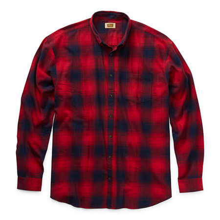 The Foundry Big & Tall Supply Co. Big and Tall Mens Long Sleeve Flannel Shirt, 3x-large Tall , Blue