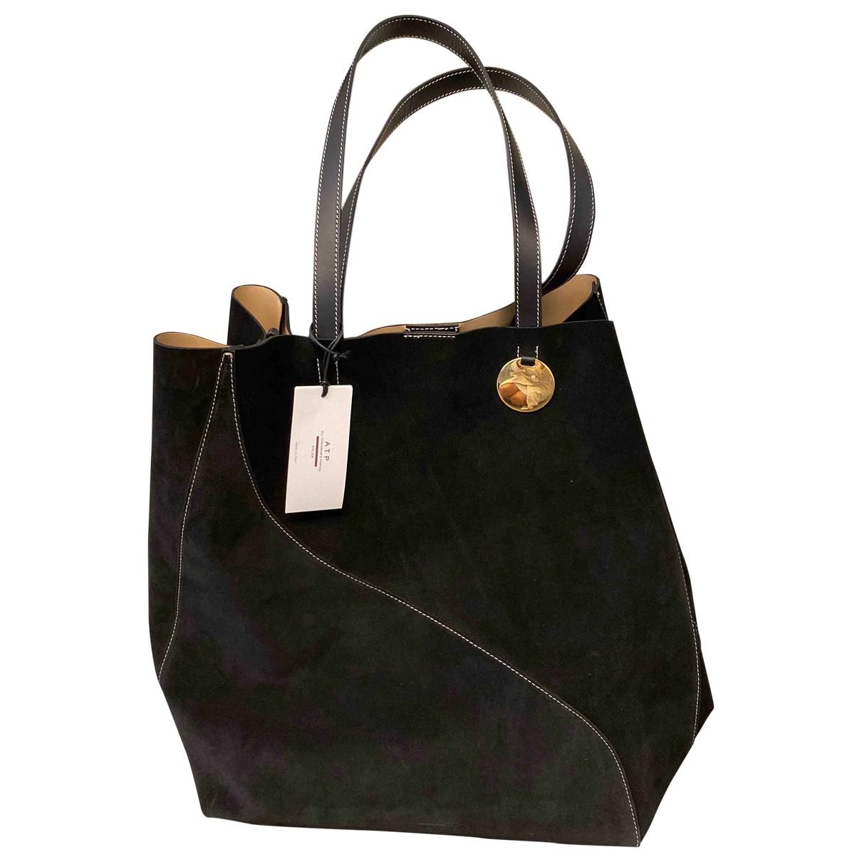 Atp Atelier N Black Suede handbag for Women N