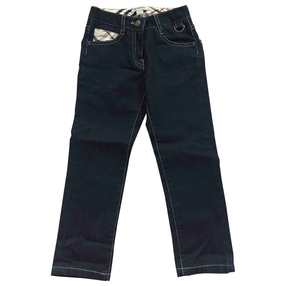 Burberry - Pantalon   pour enfant en coton - bleu