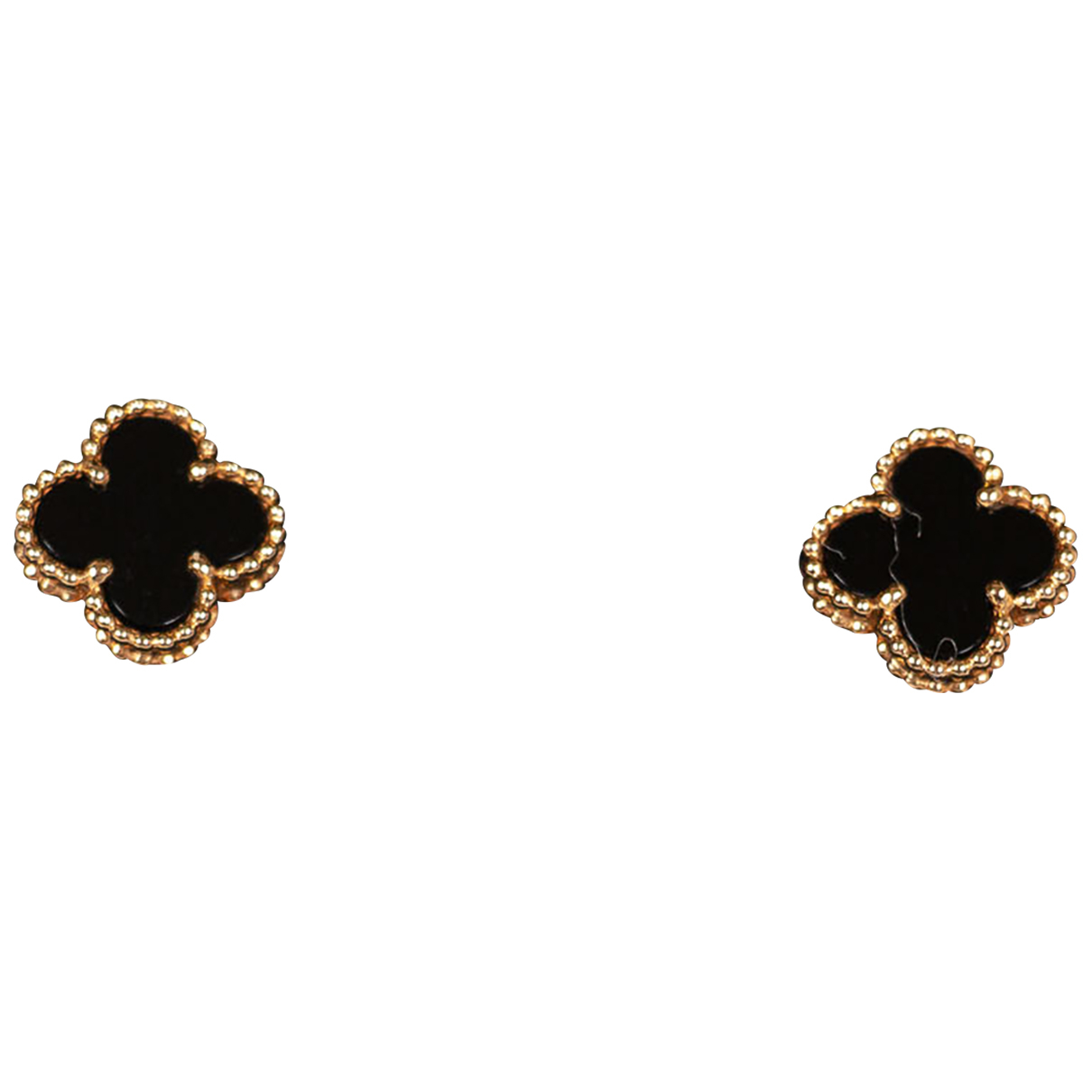 Van Cleef & Arpels Sweet Alhambra OhrRing in  Gold Gelbgold