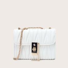 Stitch Detail Chain Shoulder Bag