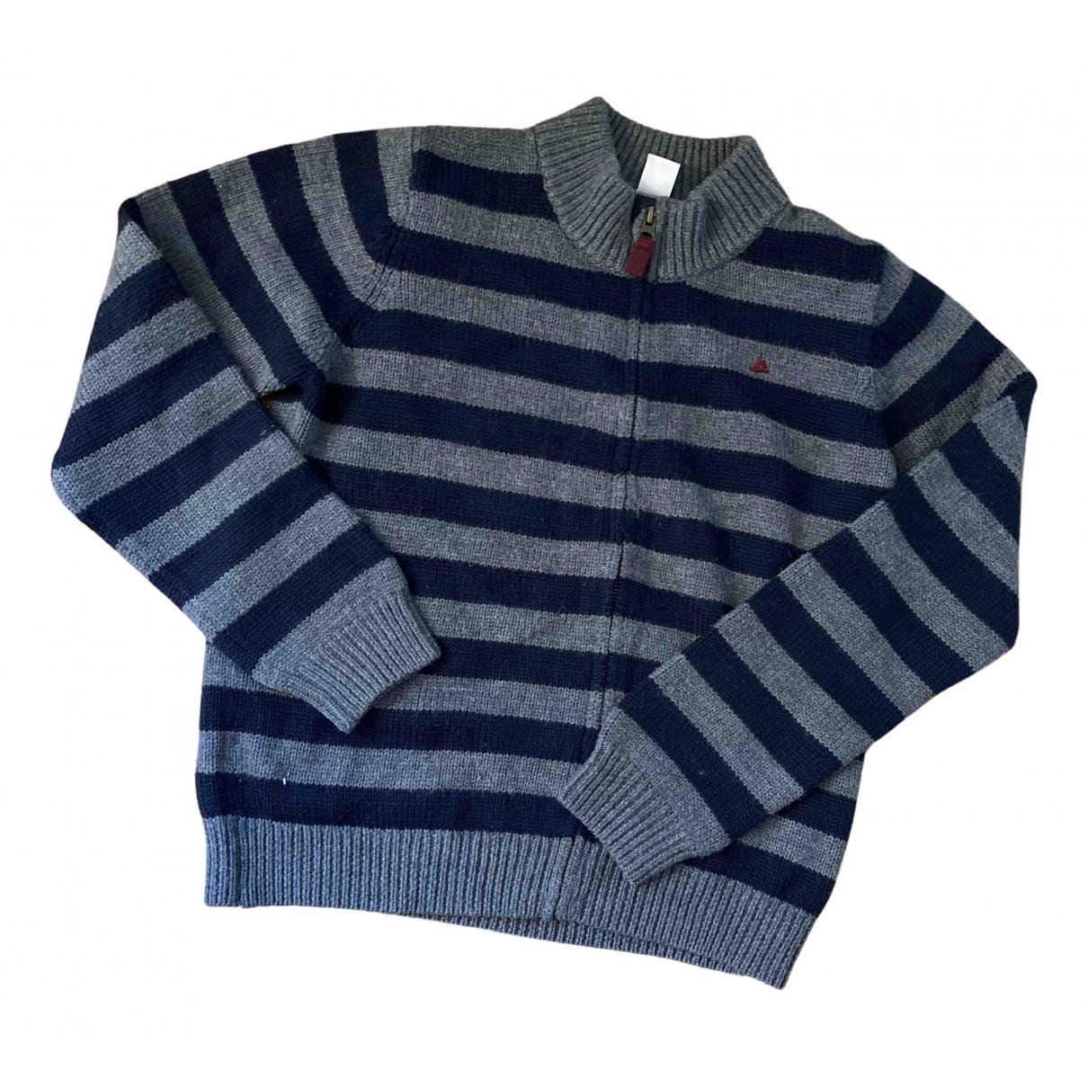Petit Bateau - Pull   pour enfant en laine - marine