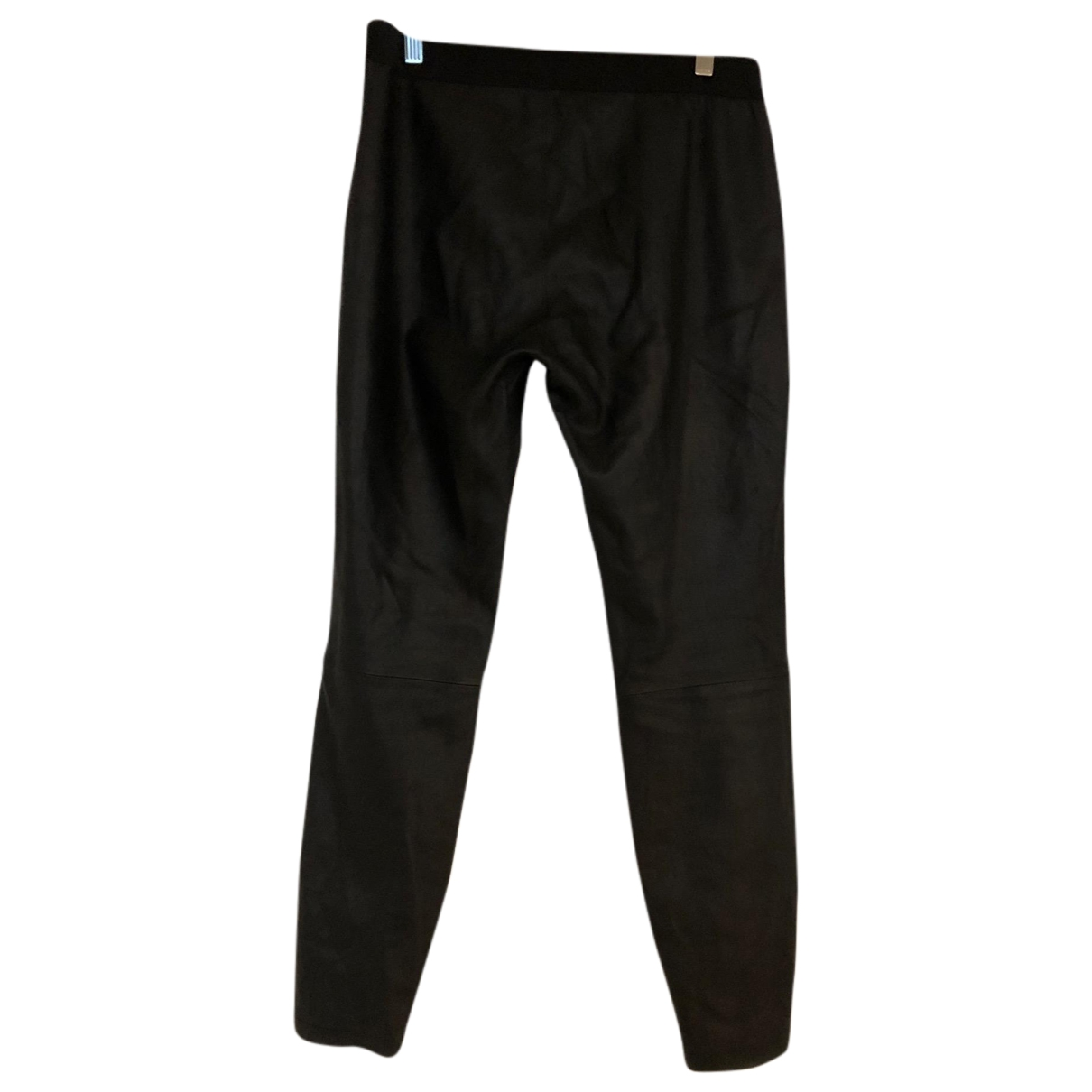 Reiss \N Black Leather Trousers for Women 14 UK