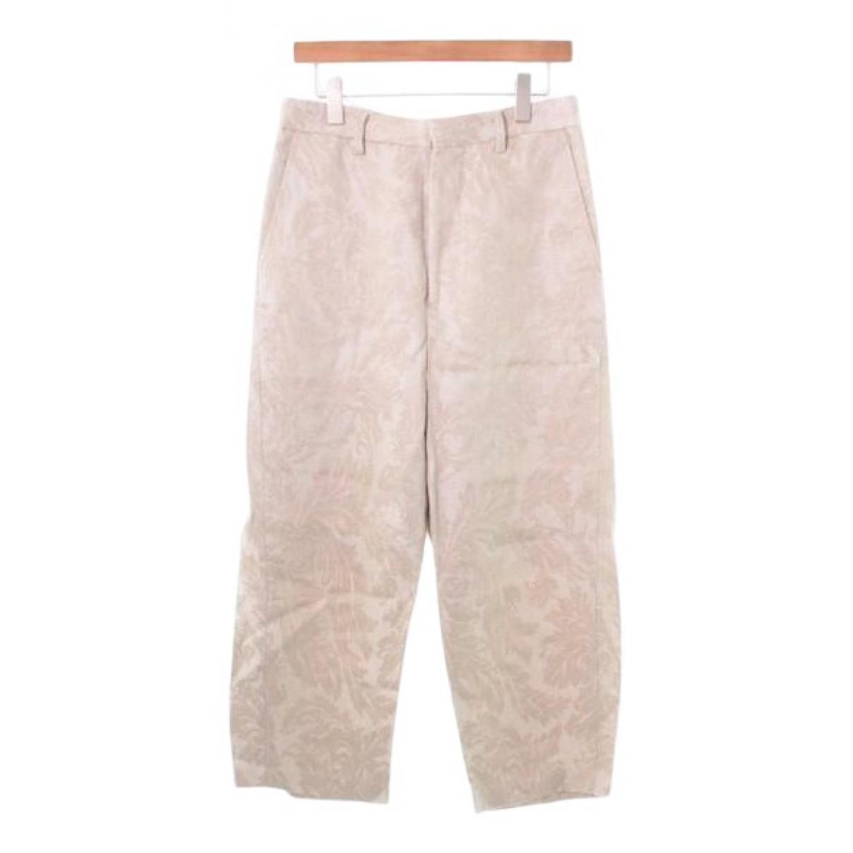 Comme Des Garcons N Beige Cotton Trousers for Women S International