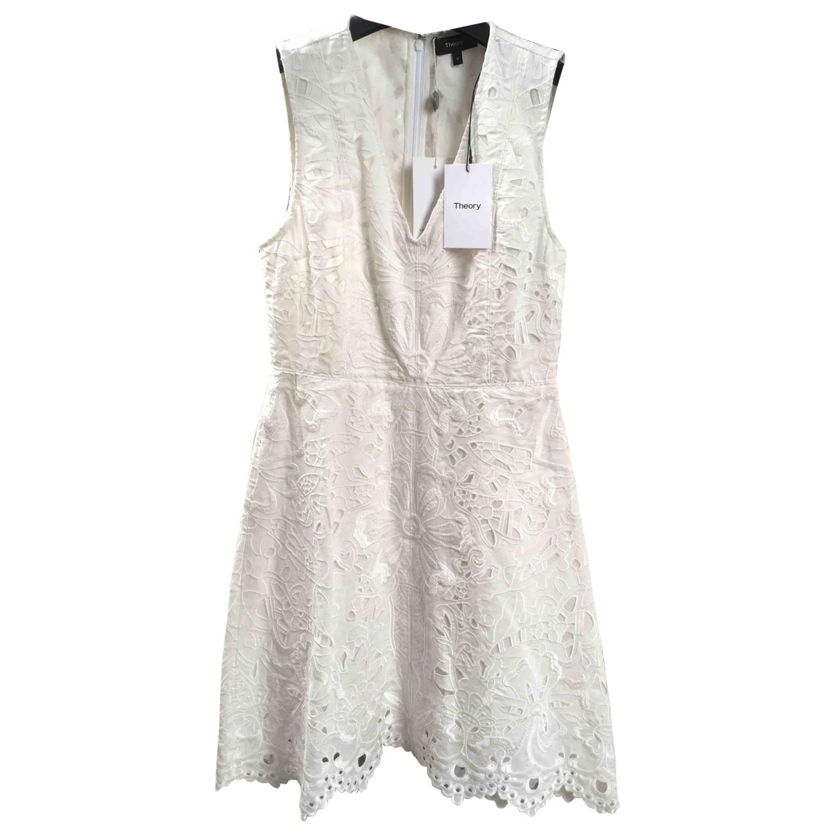 Theory \N White Linen dress for Women 0 0-5