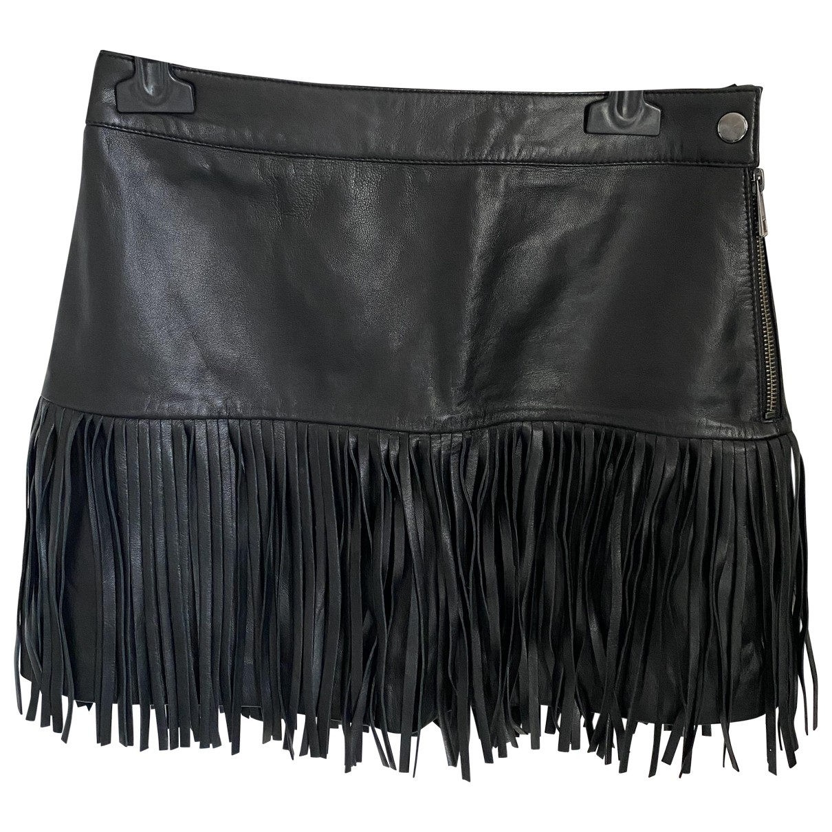 Zadig & Voltaire \N Black Leather skirt for Women 34 FR