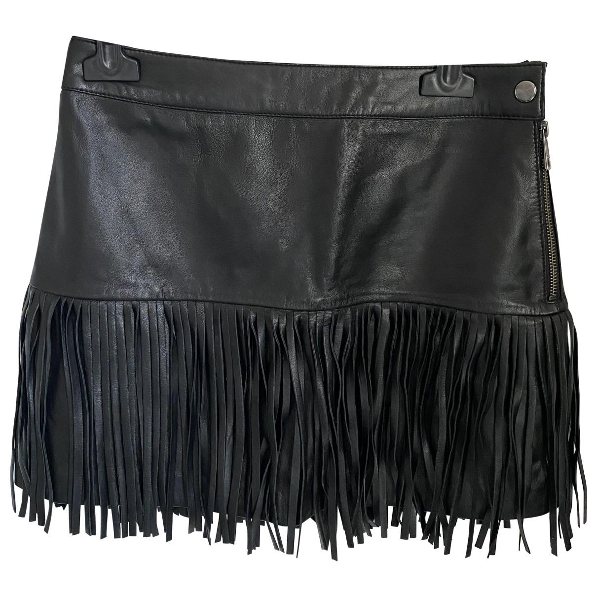 Zadig & Voltaire \N Black Leather skirt for Women 34 FR
