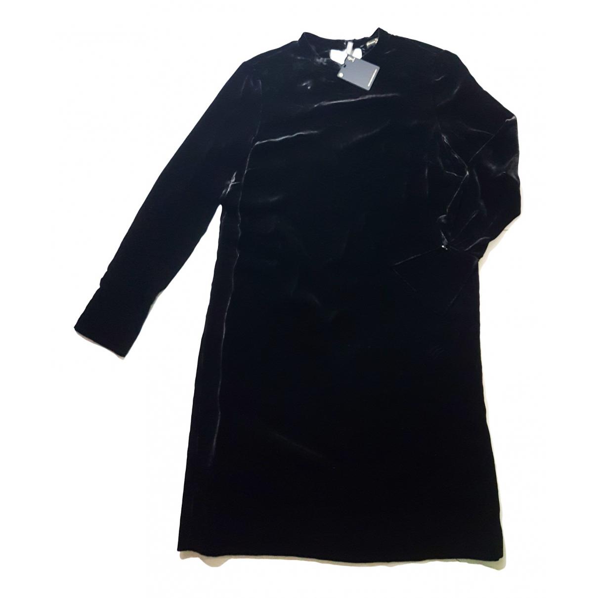Massimo Dutti \N Black Velvet dress for Women 36 FR