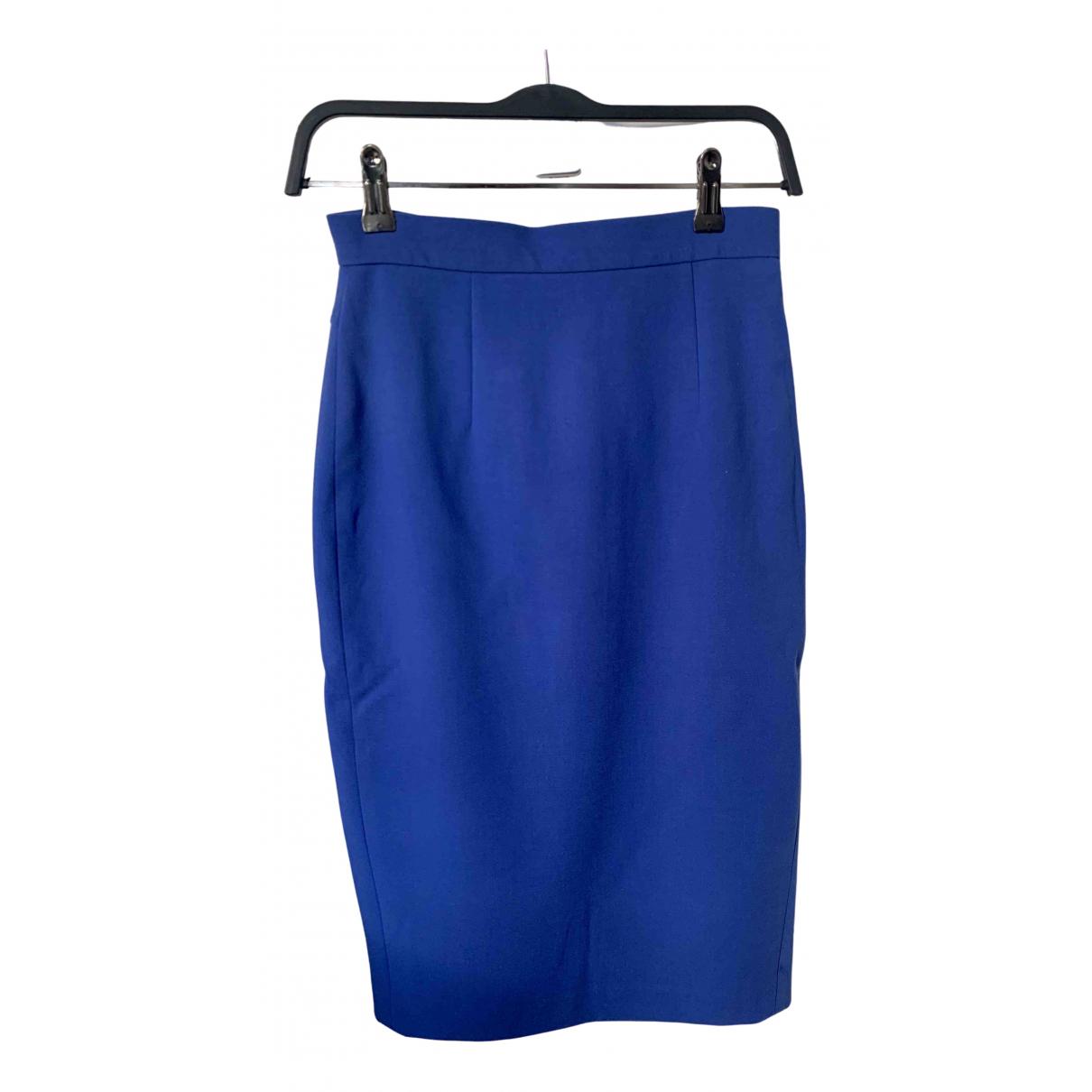 French Connection - Jupe   pour femme en coton - elasthane - bleu