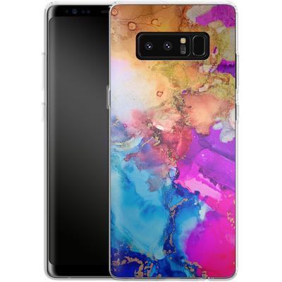 Samsung Galaxy Note 8 Silikon Handyhuelle - Cosmic Swirl III von Stella Lightheart
