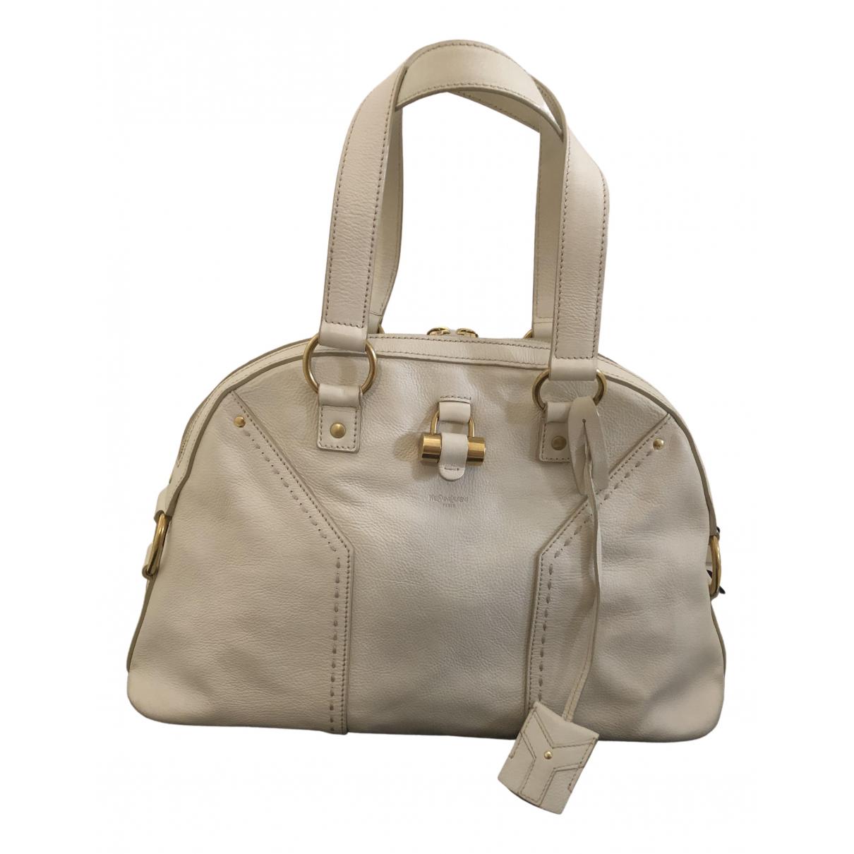 Yves Saint Laurent Muse White Leather handbag for Women \N